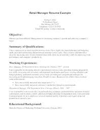 Resume Sample For Retail Retail Store Associate Sample Resume Sample