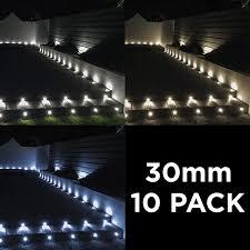 30mm Led Decking Lights Details About Woodside Set Of 10 30mm Aluminium Led Decking Deck Plinth Lights