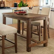 Rectangle Kitchen Table Counter Height Island Dining Pub With Bench