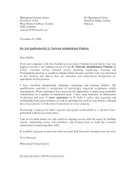 Idea Picture Cisco Network Administrator Cover Letter Resume