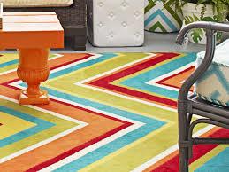 Image of: turquoise chevron outdoor rug