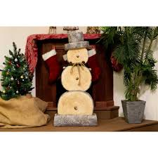 yard decoration indoor outdoor 46 in wooden decorated snowman statue