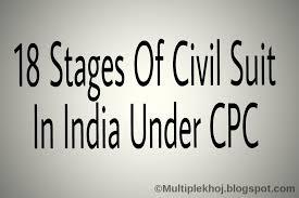18 Stages Of Civil Suit In India Under The Civil Procedure