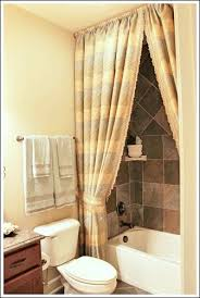 Magnificent Bathroom Decorating Ideas A Shower Curtain Hung At The