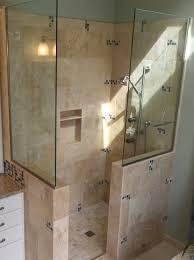 ... Bathroom:Awesome Ideas For Doorless Shower Designs Design Neurostis  Snail Without Doors Open Bath Walk ...