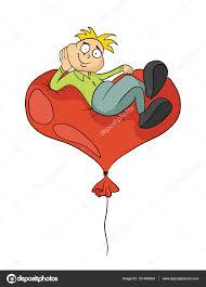 Dessin Ballon En Coeur Dernier Mod Le Dessin Anim Homme Heureux Se