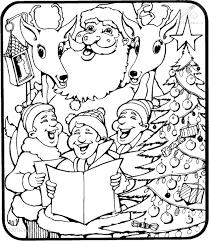 Kleurplaat Kerst Kerst Liedjes Kerstman En Rendier Kleurplaat