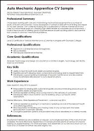 auto mechanic apprentice cv sample myperfectcv auto mechanic apprentice cv sample