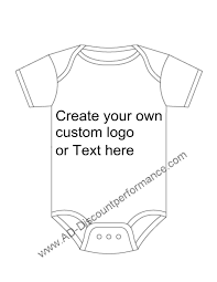 Custom made onesie baby clothes
