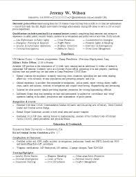 Police Officer Resume Sample Military Transition Resume Examples
