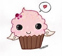 cute cupcake drawing. Beautiful Drawing Cupcake Cute Chibi Drawings To Drawing