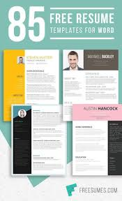 85 Free Resume Templates For Microsoft Word Freesumescom Free