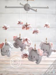 Amazon.com: Grey & Pink Elephant Nursery Decor, Pink & Grey Nursery Mobile  Elephant, Pink Grey Baby Mobile, 2-DAY FEDEX DELIVERY to USA, Canada, ...