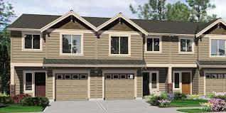 t 400 triplex house plans triplex plans with garage 20 ft wide house