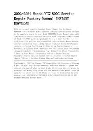 honda vtx c service repair factory manual instant downl 2 2002 2004 honda vtx1800c