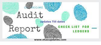 Check Ledgers Gst Audit Report Ledger Check List Etaxupdates