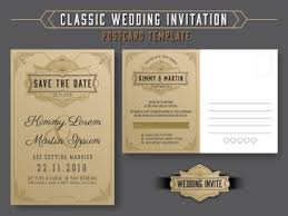 wedding rsvp postcards templates classic vintage wedding invitation card design with beautiful