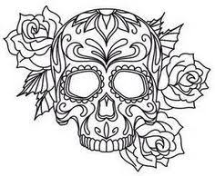 Small Picture Sugar Skull Coloring Pages at Coloring Book Online