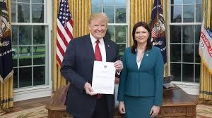 ambador cristina balan presented letters of accreditation to us president donald trump