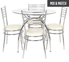 argos 179 99 home lusi glass dining table and 4 chairs cream
