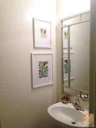 half bath decorating accent wall and