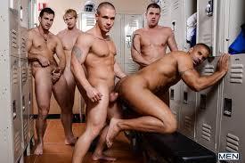 18 gay man orgy
