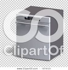 dishwasher clipart black and white. clipart 3d stainless steel dishwasher kitchen appliance - royalty free cgi illustration by ralf61 #1074121 black and white