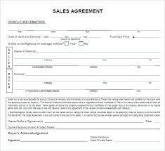 Used Car Sale Agreement Template Car Selling Template Velorunfestival Com