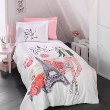 Paris Bedding Girls Duvet Cover Set, Eiffel Tower Themed Single ... & Image is loading Paris-Bedding-Girls-Duvet-Cover-Set-Eiffel-Tower- Adamdwight.com