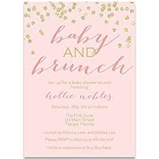 Amazon Com Baby Shower Invitations Baby And Brunch Blush Gold