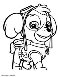 Paw Patrol Skye Coloring Page Free Printable Pages With Bitsliceme