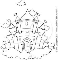 Disney Castle Line Drawing At Getdrawingscom Free For Personal