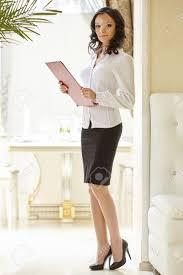 Restaurant Hostess Image Of Good Looking Hostess Posing At Restaurant