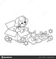 Kleurplaat Cute Hond Puppies