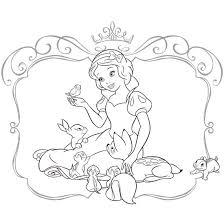 白雪姫 ぬりえダウンロードディズニーキッズ公式