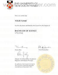 Fake Diploma Samples College Degree Certificate Sample As