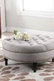 round leather tufted ottoman coffee tables mesmerizing padded coffee table round leather intended for enticing tufted