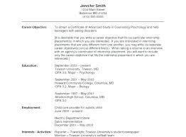 Objective In Resume Examples Objective Resume Examples Arzamas