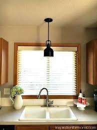full image for kitchen sink light fixtures home depot lighting over no window images