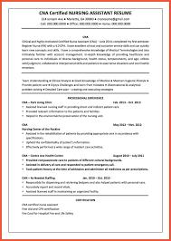 Cover Letter Cna Resume Summary Cna Sample Resume Resume Samples