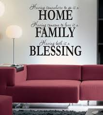 s5q home family blessing wall quote sticker