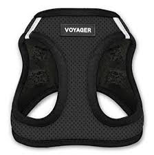 Voyager Harness Size Chart Voyager Step In Air Dog Harness All Weather Mesh Step In Vest Harness For Small And Medium Dogs By Best Pet Supplies Black Base Medium Chest