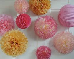Gold Birthday Decorations Pink Gold Poms Pink And Gold Birthday Pink And Gold Party