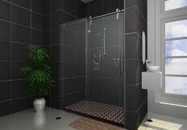 modern bathroom shower design. Modern Bathroom: Perfect Sliding Door For Your Shower Bathroom Design