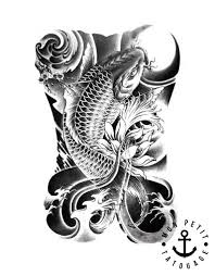 Tattoo Dessin Poissons Carpe Koil