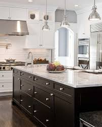 black kitchen cabinets with white marble countertops. Modren Kitchen Black Kitchen Island Inside Cabinets With White Marble Countertops T
