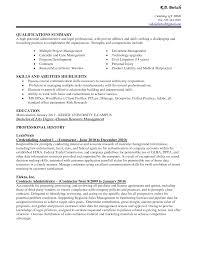 Resume Qualifications Summary Templates Unusual Engineering Military