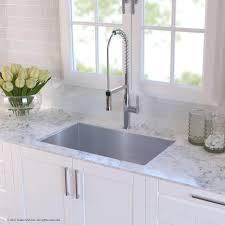 kraus kitchen combo with handmade undermount stainless steel 30 in single bowl 16 gauge kitchen