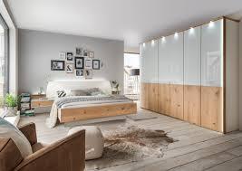 Schlafzimmer 4 Teilig Chicago Glasfronten Kombiniert Mit Massiver