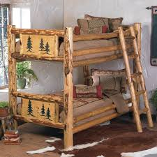 rustic beds twin over twin rocky mountain log bunk bed over twin black forest decor